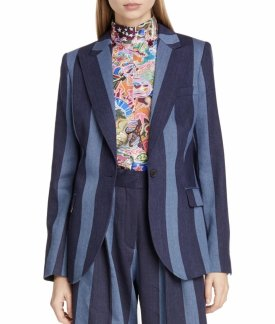 Tommy X Zendaya Stripe Denim Blazer