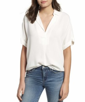 All In Favor Button Back Top $39.00