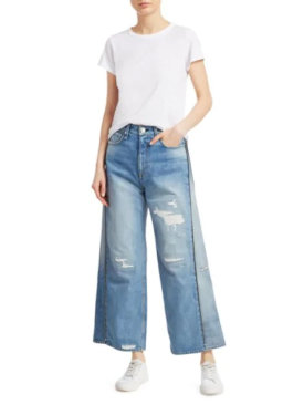 Rag & Bone Side-Zip Haru Wide-Leg Crop Jeans