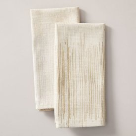 Luxe Lines Printed Napkin Set $34