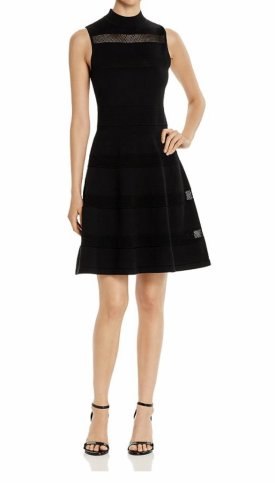 Kate Spade New York Sleeveless Mesh Inset Sweater Dress $278.60
