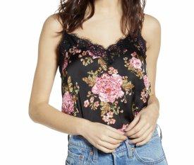 BP Lace Trim Satin Camisole Top $39.00
