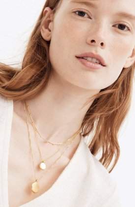 Madewell Coin Necklace Set $48