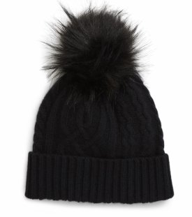 Halogen Cable Cashmere Pom Beanie $39.00