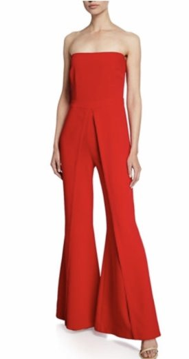 Likely Trista Strapless Flared Leg Jumpsuit