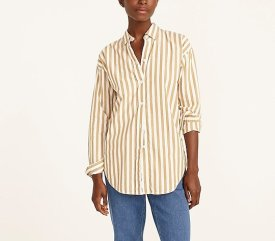 Relaxed-fit washed shirt in stripe $79.50