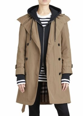 Burberry Amberford Taffeta Trench Coat $790.00