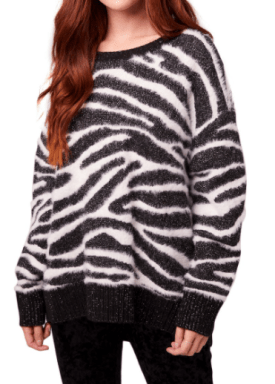 Baxter Animal Print Sweater $89