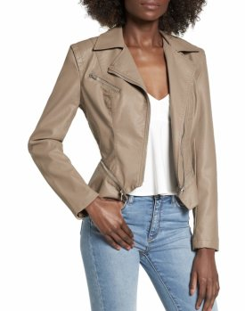 BlankNYC Faux Leather Moto Jacket $98.00