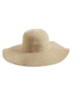 Floppy Straw Look Hat.