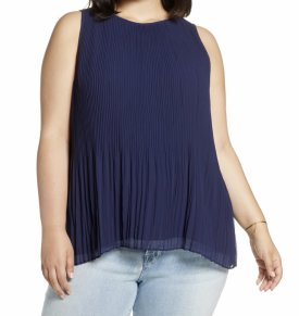 Halogen Pleated Tank $59.00