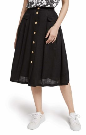 ModCloth Pleat Midi Skirt