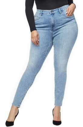 Good American Good Legs Ripped High Waist Skinny Jeans $159.00
