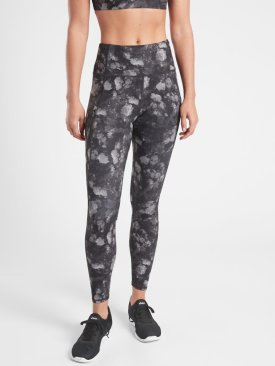 Athleta Frozen Floral Grey Tight $98