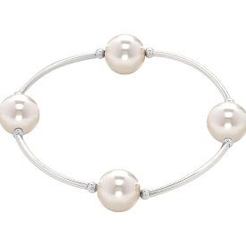 Blessings Friendship Bracelet: Chose Silver Or Pink Pearls