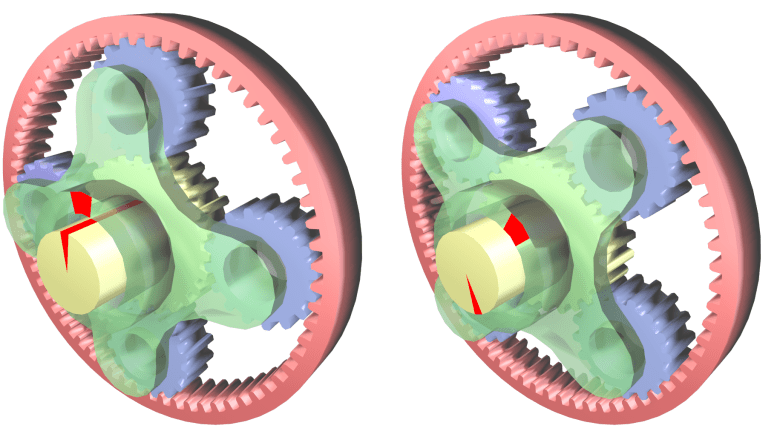 CAD model of Epicyclic gears