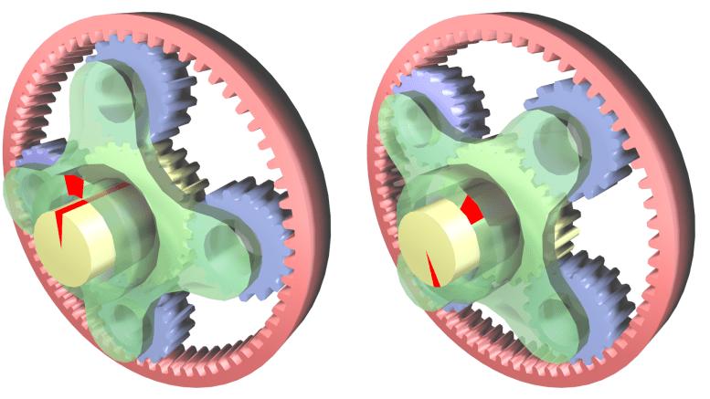 CAD model of Epicyclic gears