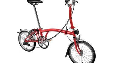Red Brompton M6L Folding Bike