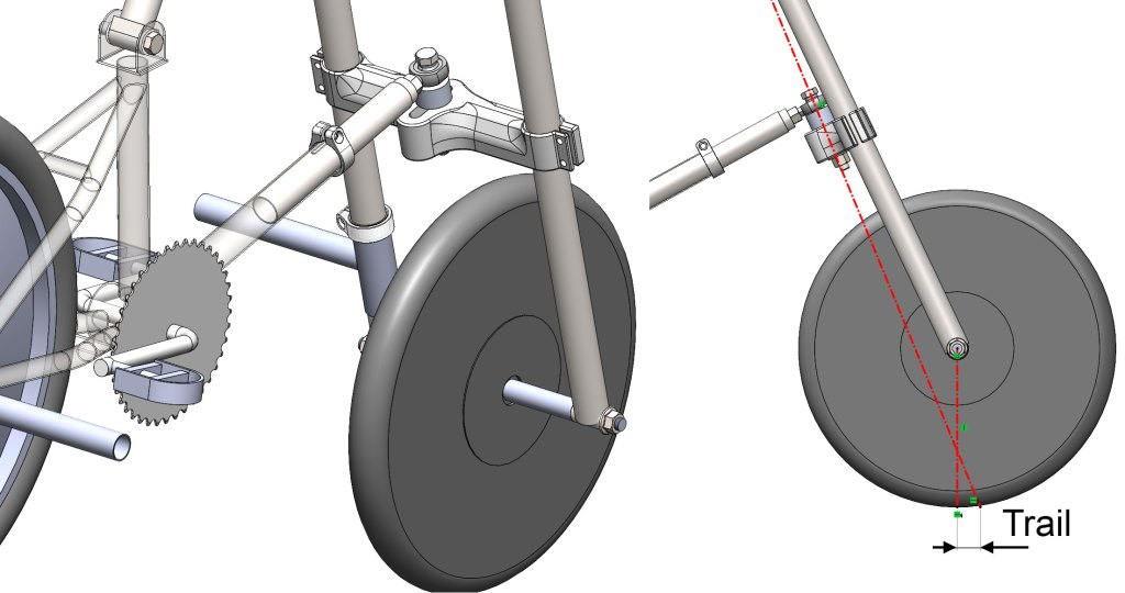 Adjustment in trail - a key bicycle geometry parameter