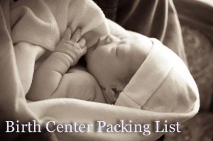 Inanna birth center packing list