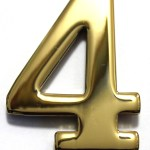 Two Inch Brass Mailbox Number Four By Better Box Mailboxes