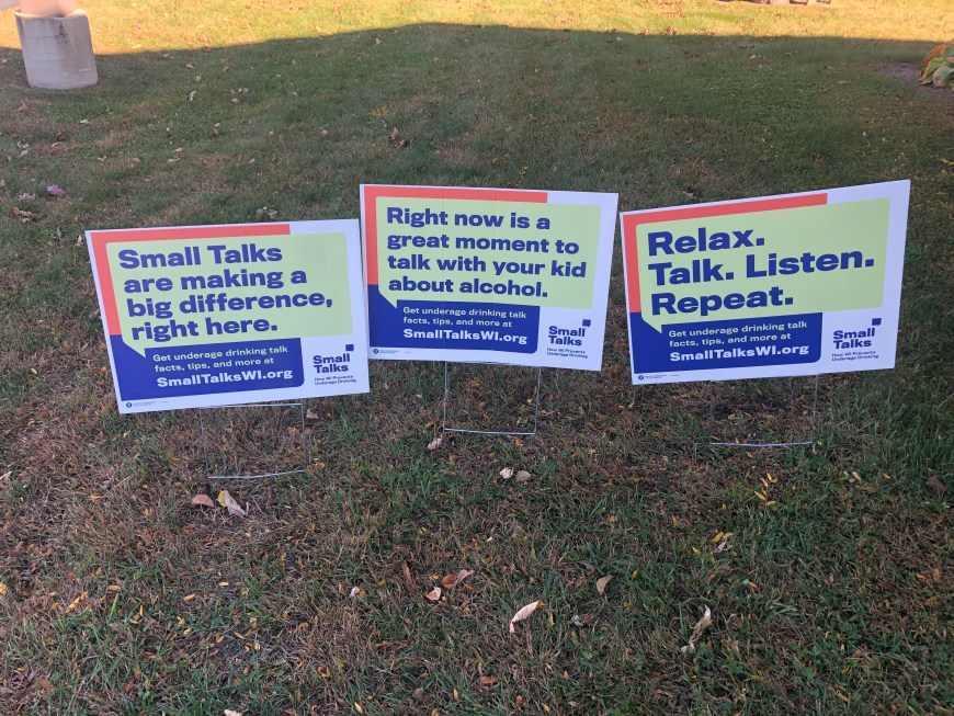 Small Talks Campaign Yard Signs
