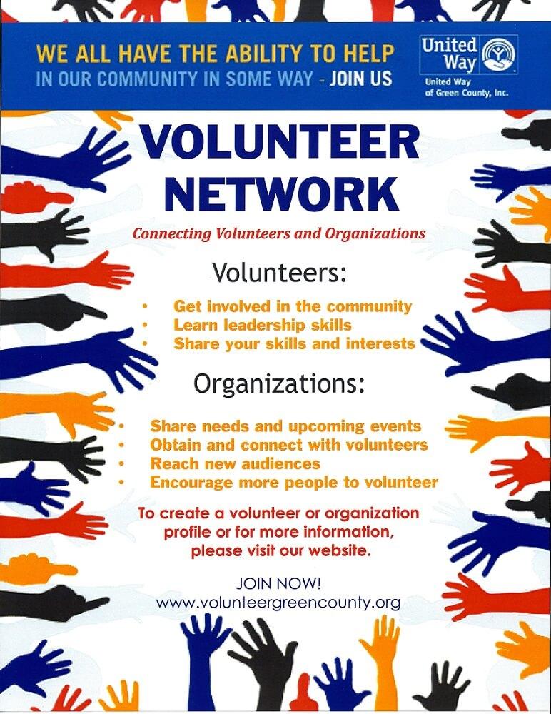 Volunteer Green County flyer