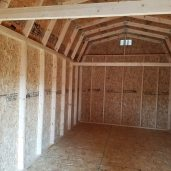 10x20x11 7'sidewalls Barn #1 Inside