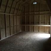 12x24x13 7'sidewalls Barn #2 Inside