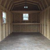 10x16x11 7'sidewalls Barn #1 Inside
