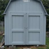 8x12x10 6'sidewalls Barn #4 with 6'wide doors