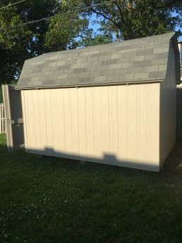 8x12x10 6'sidewalls fully caulked and painted