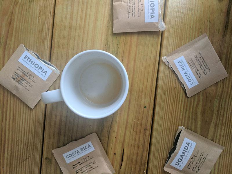Casita Coffee Samples