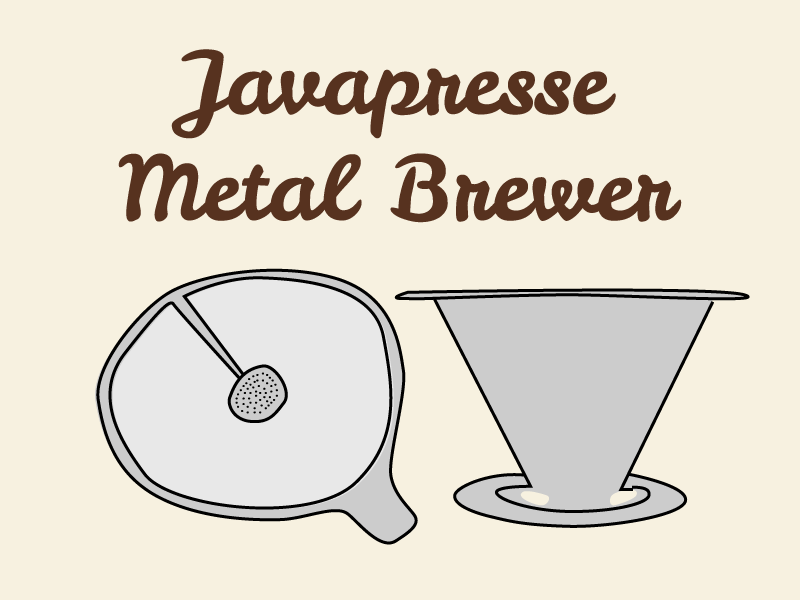 Javapresse Metal Pour Over Brewer