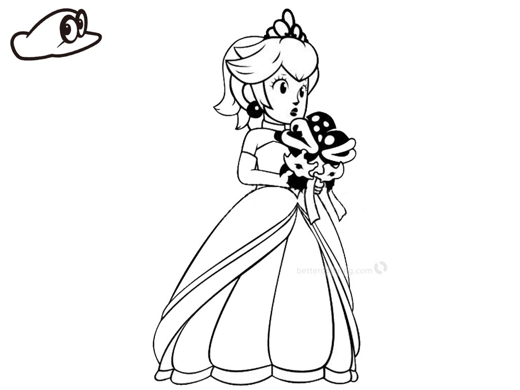 Coloring Page Of Princess Peach My Little Pony Coloring