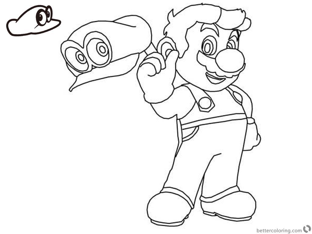 Adult Coloring Page Mario