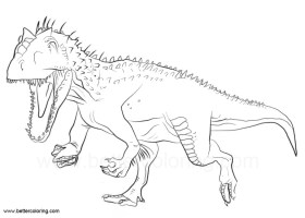 Indoraptor Coloring Pages from Jurassic World   Free ...