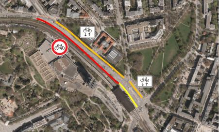 Radverkehrsanlagen im Bestand - Abschnitt 2