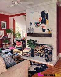 Living Rooms Red Zebra