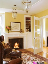 Wall Colors, Living Rooms, Idea, French Doors, Yellow Room ...