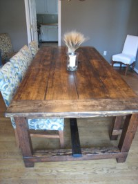 DIY Friday: Rustic Farmhouse Dining Table ...
