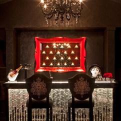 Living Room Mini Bar Furniture Design Decor Gray Walls Celebrity Home: Denise Richard's La Mansion ...