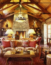 Get Cozy! - A Rustic Lodge Style Living Room Makeover ...