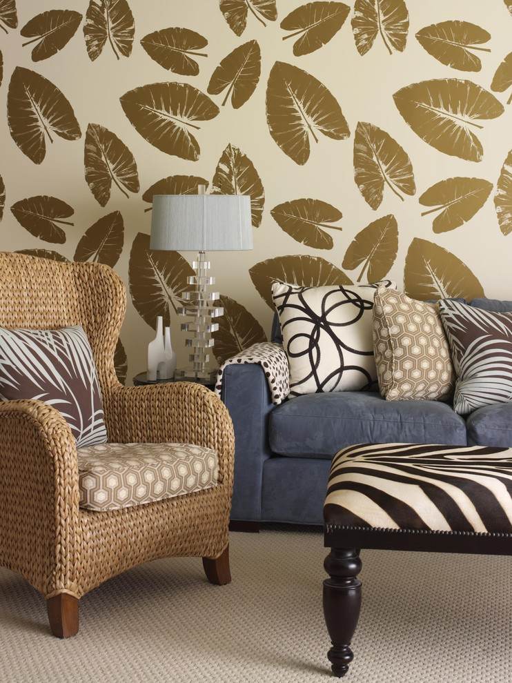 Animal Print Wallpaper For Bedrooms Make An Iconic Wall With Floral Palm And Banana Leaf