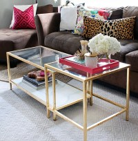 DIY Tuesday: Easy Gold Ikea Coffee Table Hack ...