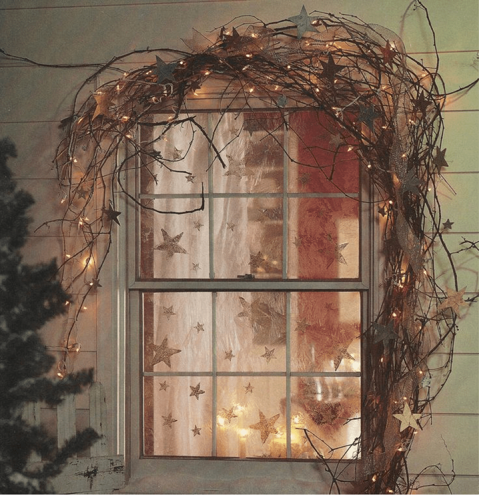 Christmas Decorations For Windows With Lights