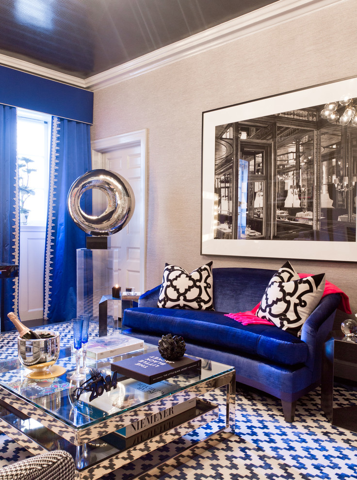 electric blue velvet sofa john lewis felix corner dimensions décor 101: how to mix and match patterns the right way ...