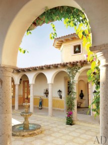 Mexican Hacienda Courtyard