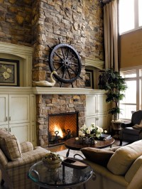 The gallery for --> Rustic Stone Fireplaces