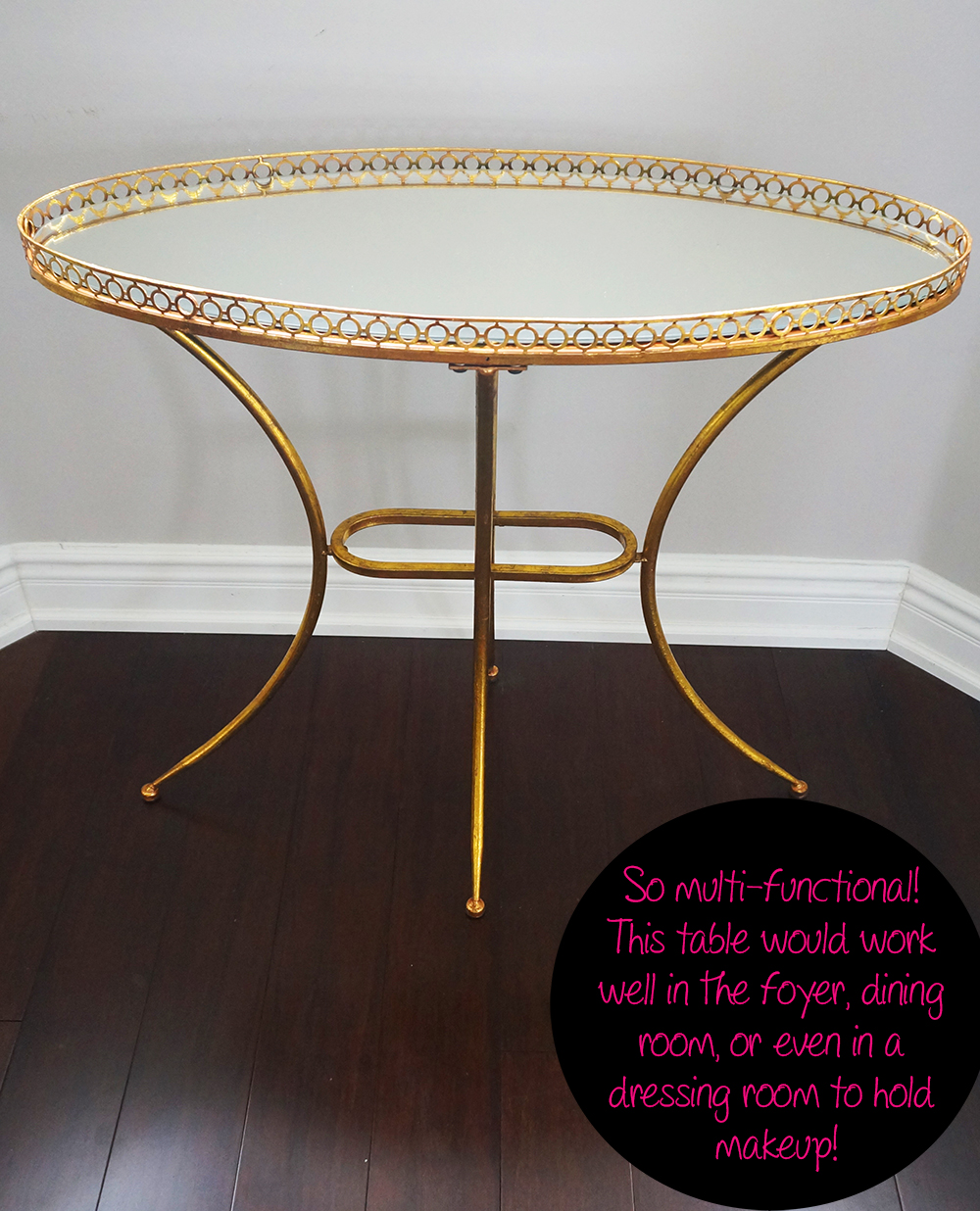 Spring Shopping – My New Gold Mirrored Table From Build Com